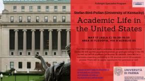 Academic Life in the United States. A Parma il 17maggio